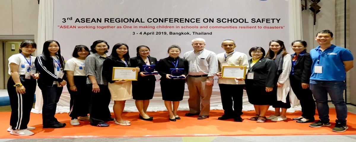 สถานศึกษาจากประเทศไทยได้รับรางวัล ASEAN Safe School Champion