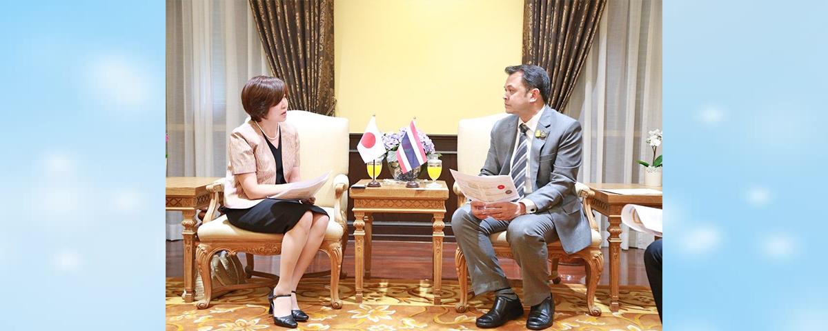 การหารือระหว่างรัฐมนตรีว่าการกระทรวงศึกษาธิการและผู้แทนองค์การ JICA ประจำประเทศไทย