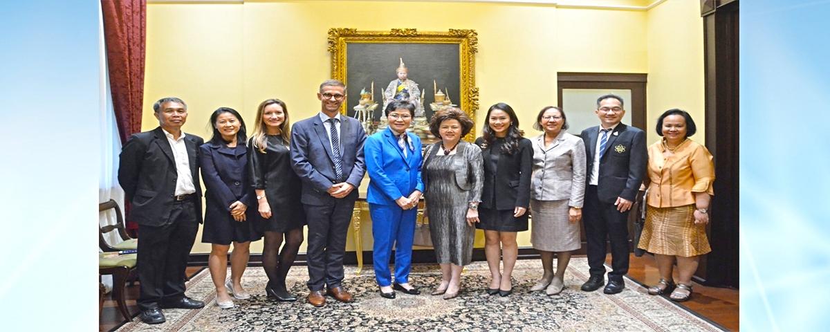การประชุมเพื่อหารือความเป็นไปได้ในการดำเนินความร่วมมือในการพัฒนานักเรียนสู่ศตวรรษที่ 21 กับสถานเอกอัครราชทูตเดนมาร์ก ประจำประเทศไทย